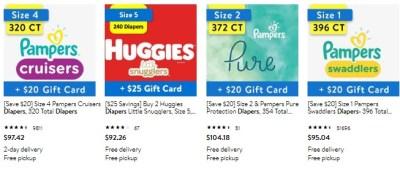 WALMART: Diaper Bundle on Popular Brands