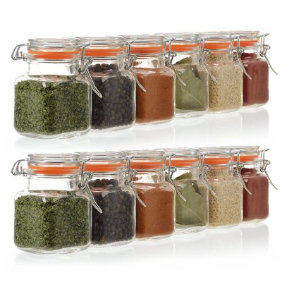 WALMART: 3.4 Ounce Mini Square Glass Spice Jars, 24 Pack Now $22.95