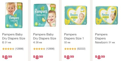 WALGREENS: 4 Pampers Diaper Packs + 3 Johnson's Baby Oil Only $26.43 Shipped After Walgreens Rewards
