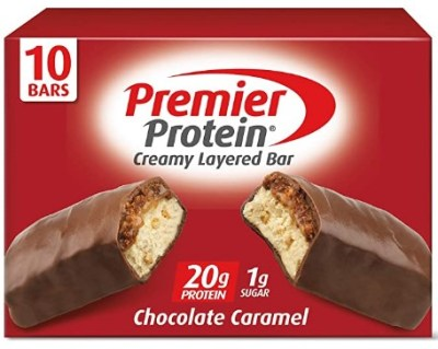 AMAZON: Premier Protein 20g Protein bar, Chocolate Caramel, 2.08 Oz, 10 Pack