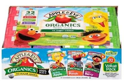 AMAZON: Apple & Eve Sesame Street Organics Juice Box (32 Count) Variety Pack