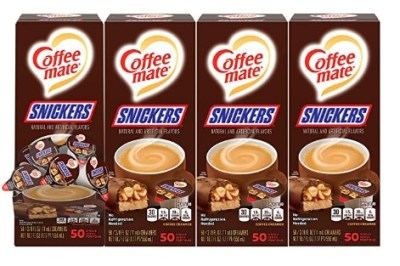 AMAZON: Nestle Coffee mate Snickers, 50 Count Box (Pack of 4)