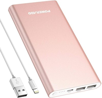 AMAZON: 12000mAh 8-Pin Input Portable Charger External Battery Pack for $13.19 Shipped! (Reg.Price $21.99)