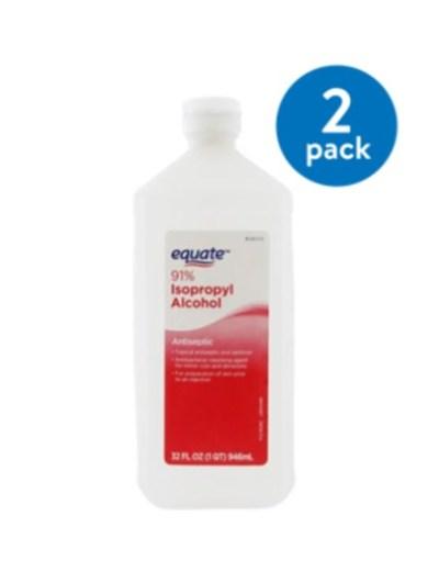 WALMART: (2 Pack) Equate 91% Isopropyl Alcohol, 32 Oz