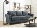 WALMART: 3-Seat Rolled Arm Microfiber Dark Grey Sofa Only $279 + Free Shipping! (Reg. Price $500)