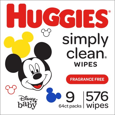 WALMART: Huggies Simply Clean Baby Wipes, Unscented