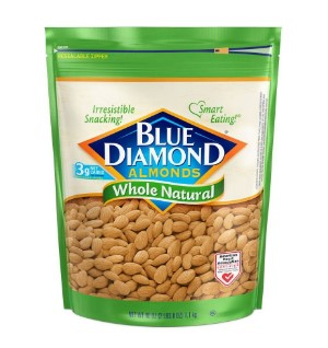 AMAZON: Blue Diamond Almonds, Raw Whole Natural, 40 Ounce ONLY $10.98