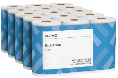 AMAZON: Solimo 2-Ply Toilet Paper, 350 Sheets per Roll, 30 Count for $19.99 Shipped!