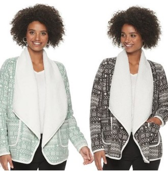 KOHL'S: Sonoma Women's Sherpa Cardigans From $9 at Kohl's (Reg $50) – Today Only!