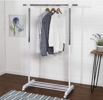 AMAZON: Honey-Can-Do Adjustable Expandable Garment Rack with Locking Wheels – PRICE DROP!