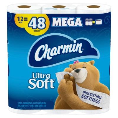 WALMART: Charmin Ultra Soft Toilet Paper, 12 Mega Rolls, 3168 SheetsW
