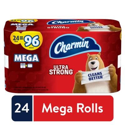 WALMART: Charmin Ultra Strong Toilet Paper, 24 Mega Rolls, 6864 Sheets