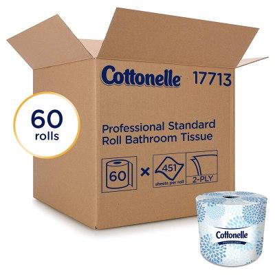 AMAZON: Cottonelle Professional Bulk Toilet Paper for Business (17713), 60 Rolls / Case, 451 Sheets / Roll