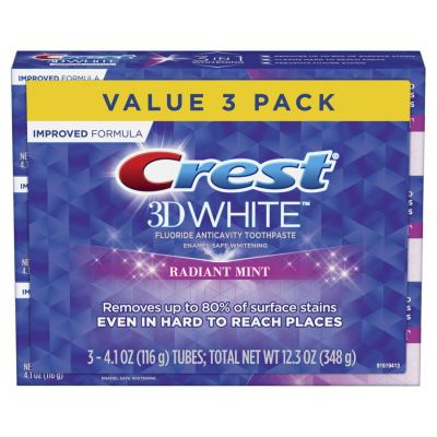 AMAZON: Crest 3D White Toothpaste Radiant Mint, $9.97 (Reg. Price $12.59)