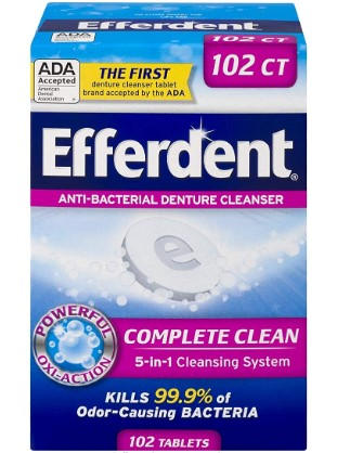 AMAZON: Efferdent Denture Cleanser Tablets, Complete Clean, 102 Tablets $2.38