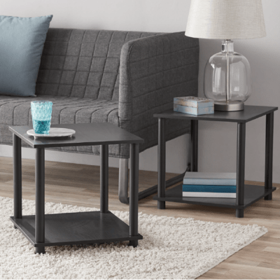 WALMART: Mainstays No Tools 2-Pack End Table, Solid Black $14.88 (REG. $22.00)