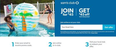 SAM'S CLUB: Free 1 year Sam's Club membership!! SPECIAL OFFER! LIMITED TIME ONLY!