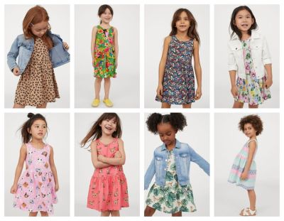 H&M: Girls Dresses , $3-4 (reg. $4.99) Shipping Fee when applying CODES 4002 and 3636