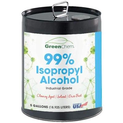 AMAZON: GreenChem Isopropyl Alcohol 99 Percent (IPA) 1x5 Gallon Pail | Sanitizing Rubbing Alcohol 99%