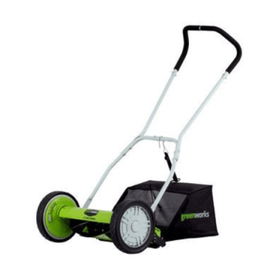 WALMART: Greenworks 16-in Reel Lawn Mower w/Grass Catcher for $90.46 + Free Shipping! (Reg. Price $149.00)