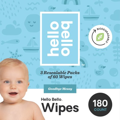 WALMART: Hello Bello Baby Wipes, Unscented, 180 Count