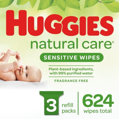 WALMART: Huggies Natural Care Sensitive Baby Wipes, JUST $13.98