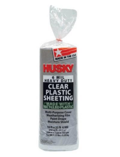 WALMART: Husky 6 Mil Heavy Duty Clear Plastic Sheeting for $11.48 + Free Store Pickup! (Reg. Price $34.79)