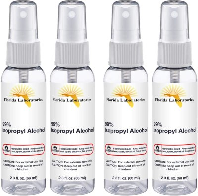 AMAZON: Isopropyl Alcohol Spray 2.30 oz Pure Grade 99% Sterilizer - Sterilizing Solution and Microneedling Cleaning