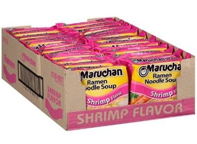 AMAZON: Shrimp, Roast Beef, Soy Sauce, Chili & Chicken Flavor Maruchan Flavor Ramen Noodles, (Pack of 24)