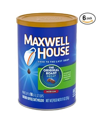 AMAZON: Maxwell House Original Decaf Medium Roast Ground Coffee 6 pk
