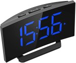 AMAZON: Mpow Digital Alarm Clock, 5'' Curved LED Screen, PRICE DROP! WITH CODE OGU6HQH