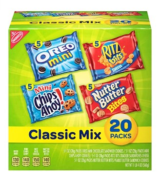 AMAZON: 20 Count Nabisco Classic Mix Variety Pack with Cookies & Crackers for $6.16