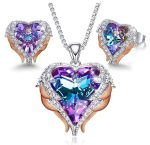 AMAZON: CDE Purple Necklace and Earring Set – 81% OFF DOUBLE DISCOUNT!
