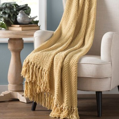 WAYFAIR: Nader Tweed Knitted-Design Throw ONLY $51.40