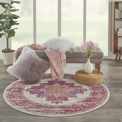 AMAZON: Nourison Passion Traditional Area Rug, 4'XROUND, JUST $22.00 (REG $89.00)