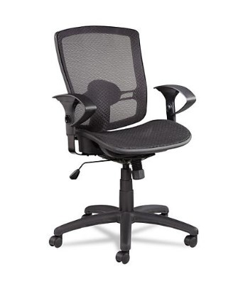 SAM'S CLUB: Alera Etros Series Suspension Mesh Mid-Back Synchro Tilt Chair, Black ONLY $158.98