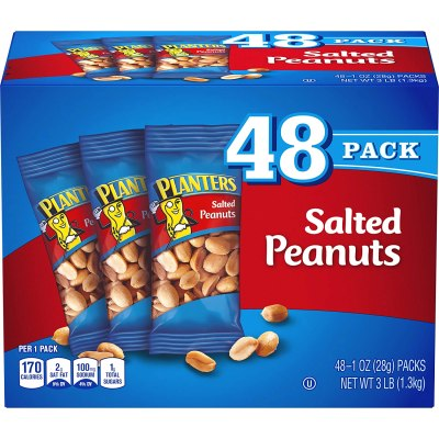 AMAZON: PLANTERS Salted Peanuts, 1 oz. Bags (48 Pack), AWESOME PRICE
