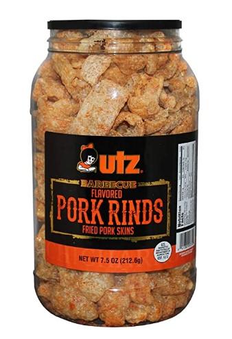 AMAZON: Utz Pork Rinds, BBQ Flavor - 7.5 Oz Barrel - Keto Friendly Snack – PRICE DROP!