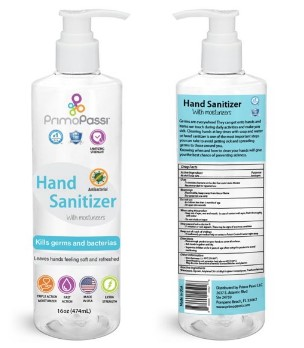 WALMART: Primo Passi Hand Sanitizer Pump with Moisturizers | Antibacterial Gel - 16oz $14.99