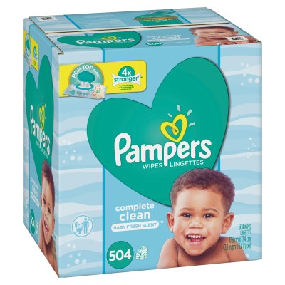 WALMART: Pampers Baby Wipes, Complete Clean Scented, 7X Pop-top Packs, 504 Ct