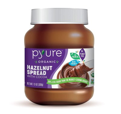 AMAZON: Pyure Organic Hazelnut Spread With Cocoa, Keto Friendly