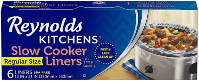 AMAZON: Reynolds Kitchens Premium Slow Cooker Liners, 6 Count as low as ONLY $2.21 Shipped