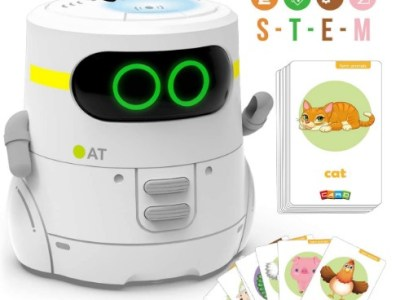 AMAZON: GILOBABY Robot with 20 PCS Animals Cards for Playing Guess Game, Interactive Toy – 50% OFF W/Code