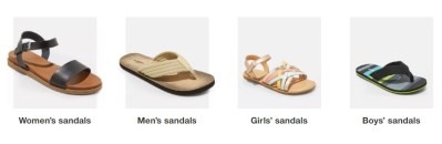 TARGET: Buy 1 Get 1 FREE Sandals for the Family!