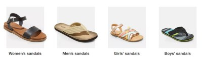 TARGET: Buy 1 Get 1 FREE Sandals for the Family (In-Store & Online!)