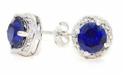 eBay: 2 Carat Blue Sapphire & Diamond Round Stud Earrings 14Kt White Gold $49.99 (REG. $240.00)
