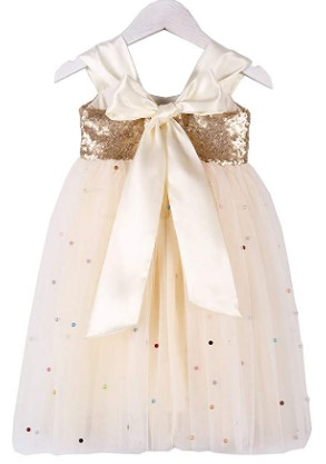 AMAZON: Cilucu Flower Girl Dress Toddlers Sequin Dress, 8T-9T – 50% OFF!