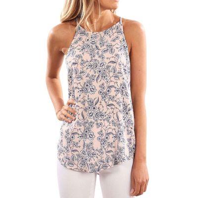 WALMART: Nlife Women Floral Print Crew Neck Sleeveless Shirt Tops Tee Tanks Camis $16.99 (Reg $26.99)