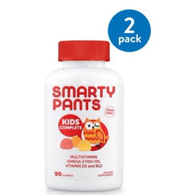 WALMART: SmartyPants Kids Complete Multivitamin Gummies, 90 Ct (2 Pack) For ONLY $26.12