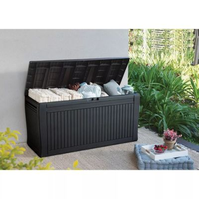 TARGET: 71gal Comfy Outdoor Storage Deck Box Brown ONLY $47